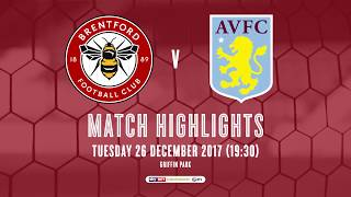 Match Highlights: Brentford v Aston Villa