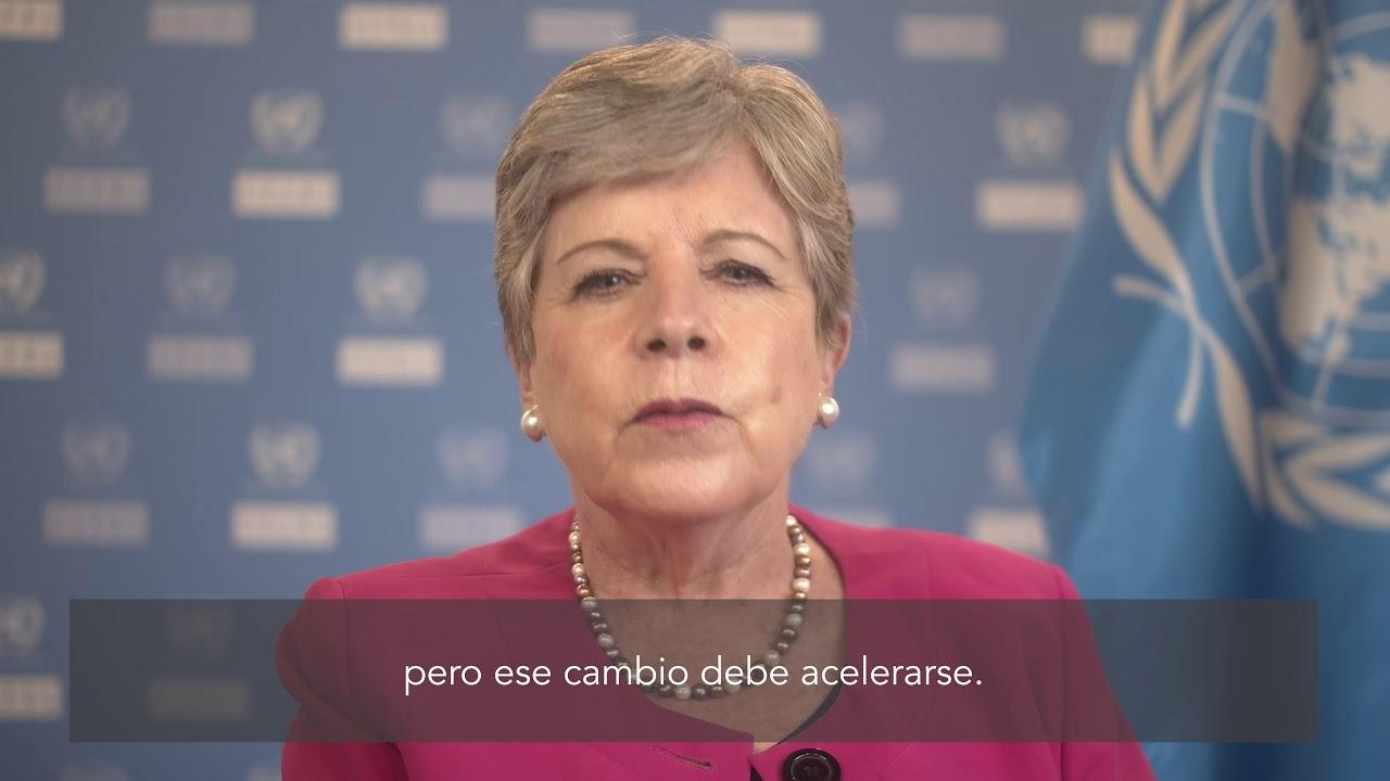 Saludo de Alicia Bárcena, Secretaria Ejecutiva de la CEPAL, en el  Día Internacional de la Mujer.