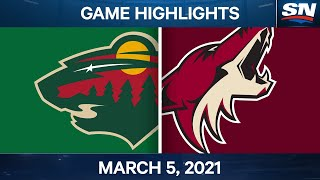 NHL Game Highlights | Wild vs. Coyotes - Mar. 5, 2021