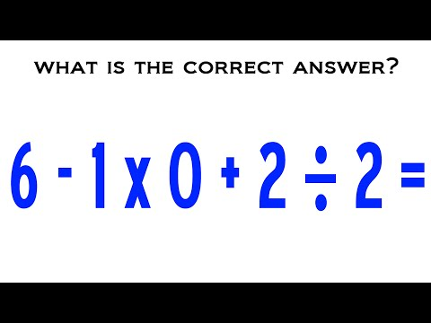 6 - 1 x 0 + 2 ÷ 2 = ? The Correct Answer Explained