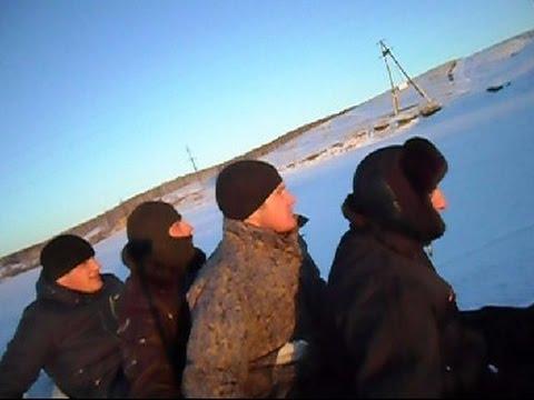 Катание на плюшке по льду на Багги видео 3