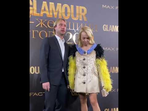 Рудковская и Плющенко на премии «Женщину Года» от Гламур