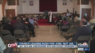 Church leaders push for jobs, not jails