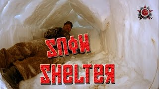 Military Type Snow Shelter. Fast To Make - Great For Emergencies