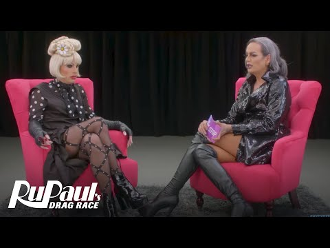 The Pit Stop w/ Raja & Katya | RuPaul's Drag Race (Season 9 Ep 2) | Logo