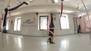 Exotic Pole Dance  Видеоурок  Тренер Екатерина Климова  Стойки на руках для начального и среднего ур