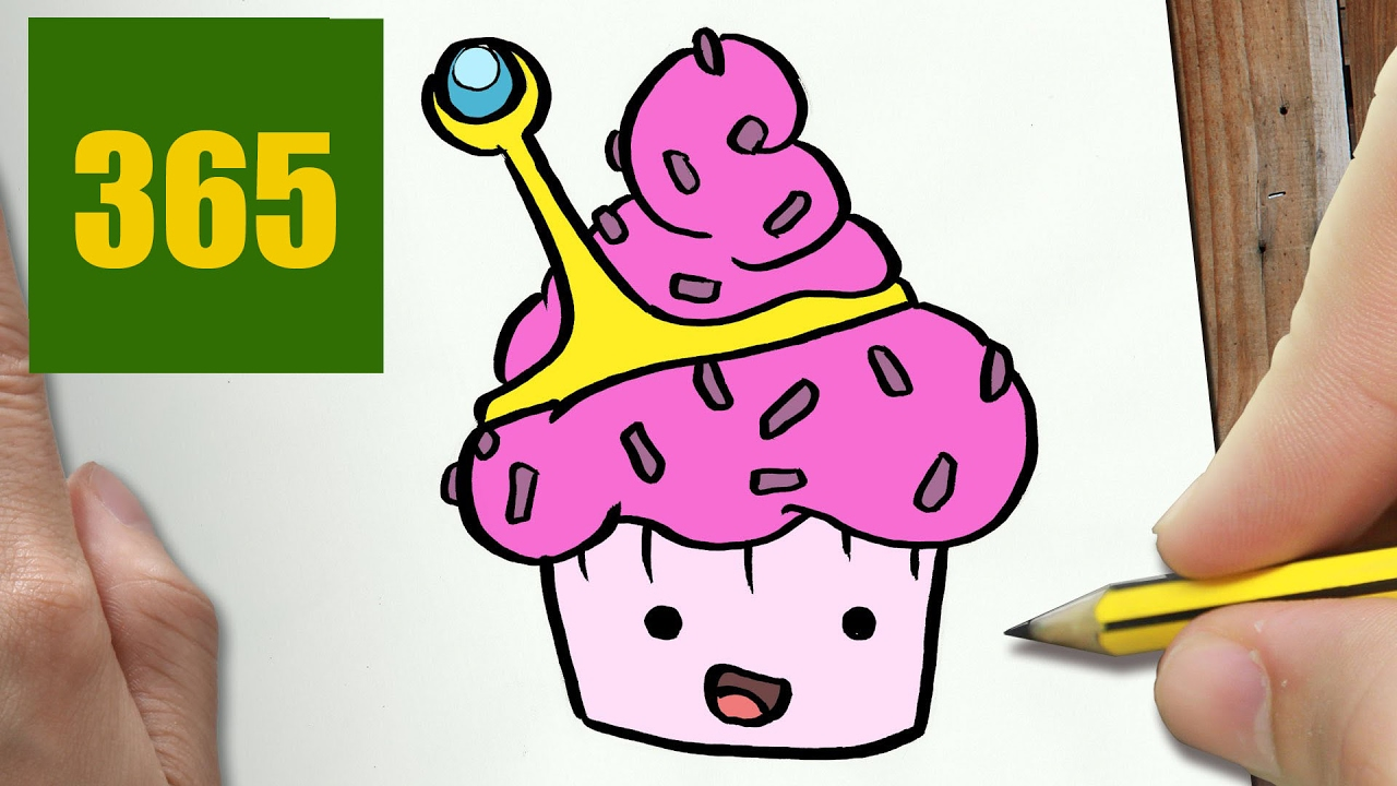 Comment dessiner petit g teau princesse bubblegum kawaii - Dessin princesse facile ...