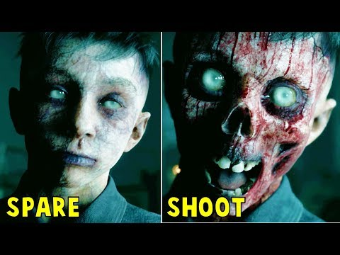 Shoot the Ghost Boy VS Spare Him - All Choices - Man of Medan |