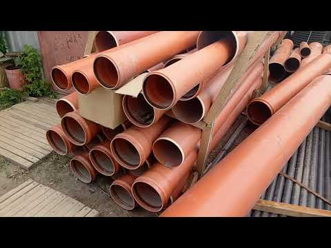 Труба ПВХ (НПВХ) обсадная и канализационная на складе