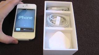 iPhone 4S Unboxing & Siri Demo!!(This is my iPhone 4S unboxing! 16GB / 32GB Apple iPhone 4 in white! in the UK, (out in the US, Japan, Germany and France today also!) I hope you enjoyed, ..., 2011-10-14T14:49:41.000Z)