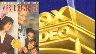 Opening to Mrs Doubtfire 1994 VHS (Australia)