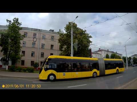 Минск.Поездка на трамвае №6 ДС Серебрянка - ДС Зелёный луг