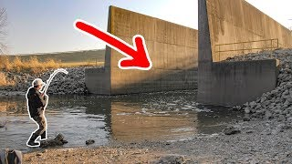 GIANT Mystery Fish in POWER PLANT SPILLWAY!!!