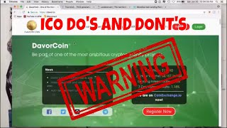 ICO Dos and Donts