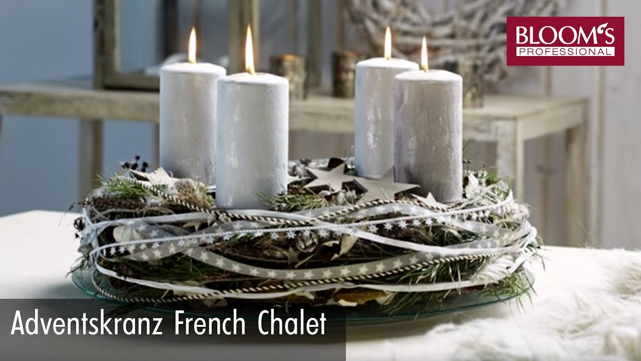 adventskranz french chalet youtube. Black Bedroom Furniture Sets. Home Design Ideas