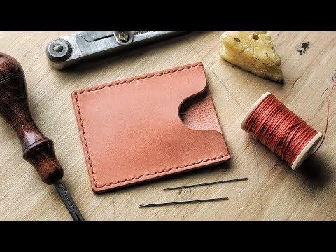 DIY Minimalist Leather Card Wallet