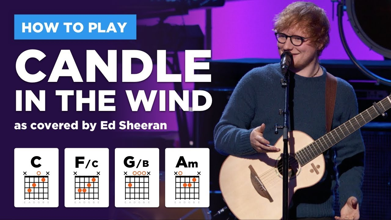 Candle In The Wind Ed Sheeran Guitar Lesson W Easy Chords