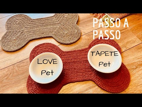 Tapete PET  ou Jogo Americano PET - em Crochê por Marcelo Nunes