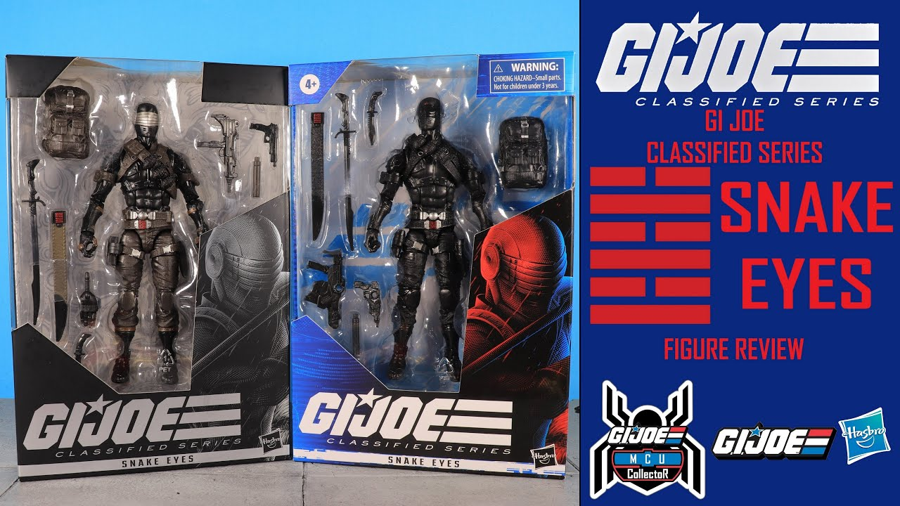 "Classified Series ~ 6/"" SNAKE EYES ACTION FIGURE ~ Hasbro GI Joe"