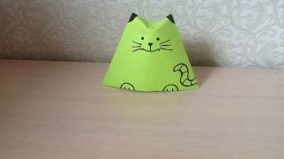Оригами кошка матрёшка