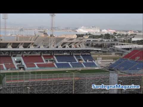 """Cagliari: Stadio provvisorio  """"Sardegna Arena""""  in progress -  8 agosto 2017"""