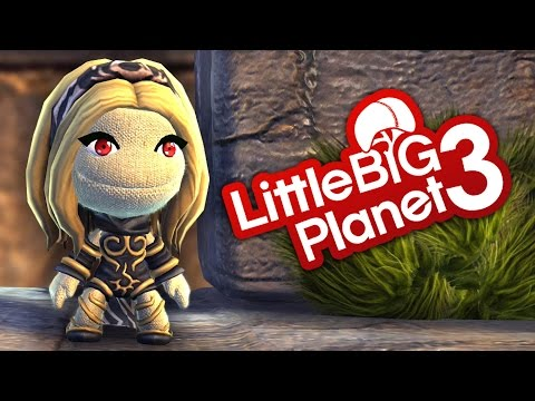 LittleBigPlanet 3 - Ruined Fortress - With Gravity Rush Kat - LBP3 PS4 Platformer
