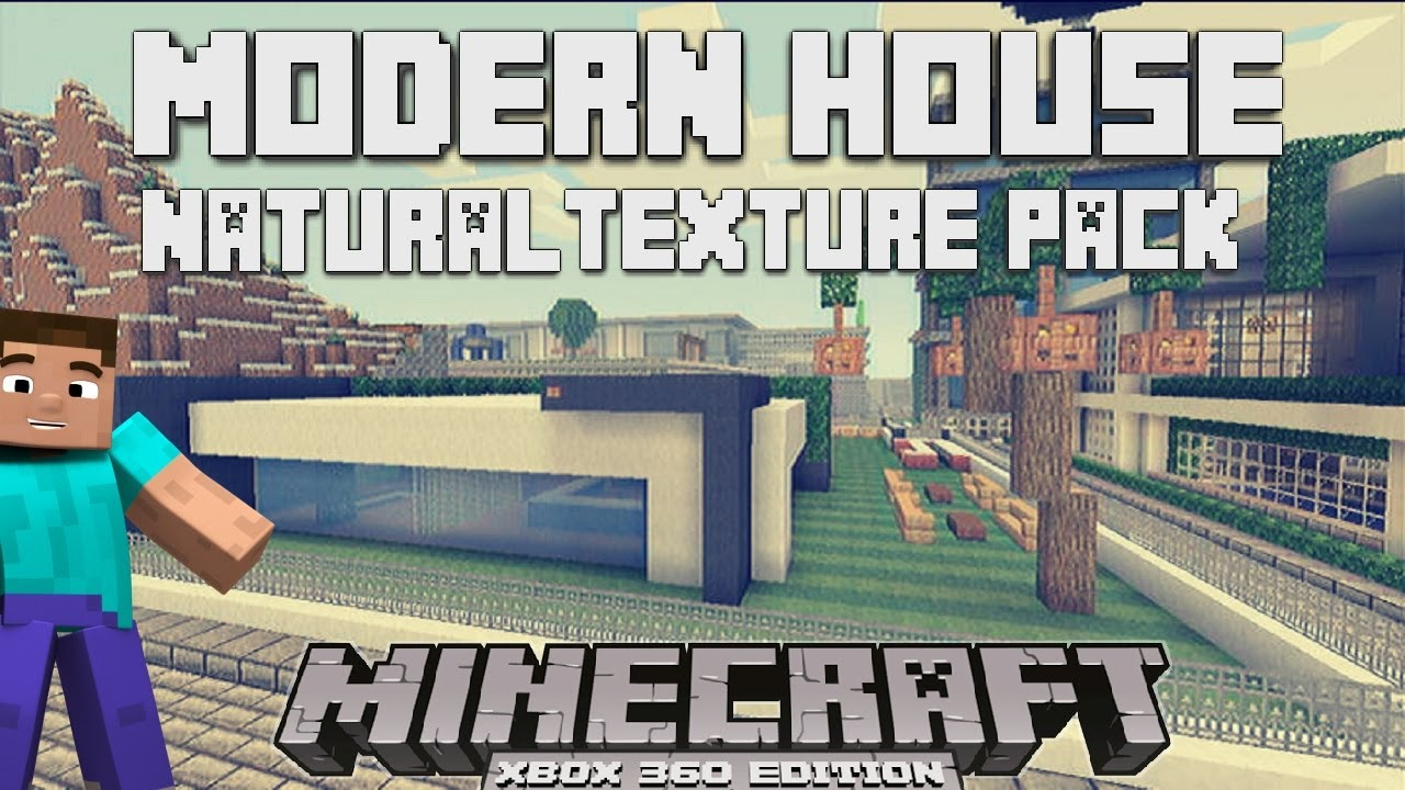Minecraft Modern House Showcase NATURAL TEXTURE PACK YouTube