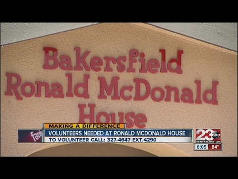 Bakersfield's Ronadl McDonald House looking for volunteers