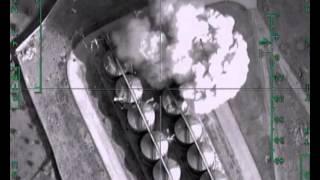 Авиаудар по нефтехранилищу в районе н.п.ЭС-САУРА(Airstrike against oil storage near al-Thawra., 2015-12-02T12:27:35.000Z)