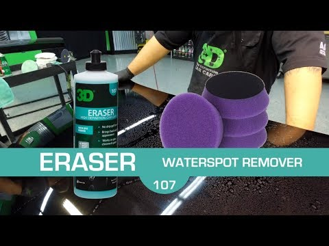 Remove hard water mineral spots cleaning with 3D Eraser Gel