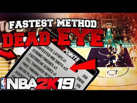NBA 2K19 SUPER FAST DEAD-EYE BADGE TUTORIAL MIDRANGE AND DEEP RANGE DEAD-EYE BADGE TUTORIAL