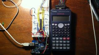 Hacking Casio fx-95ms scientific calculator(This is my Arduino Duemilanove hacking a Casio fx-95ms scientific calculator. Once hacked, the calculator can perform advanced operations that are not ..., 2011-07-11T01:33:56.000Z)