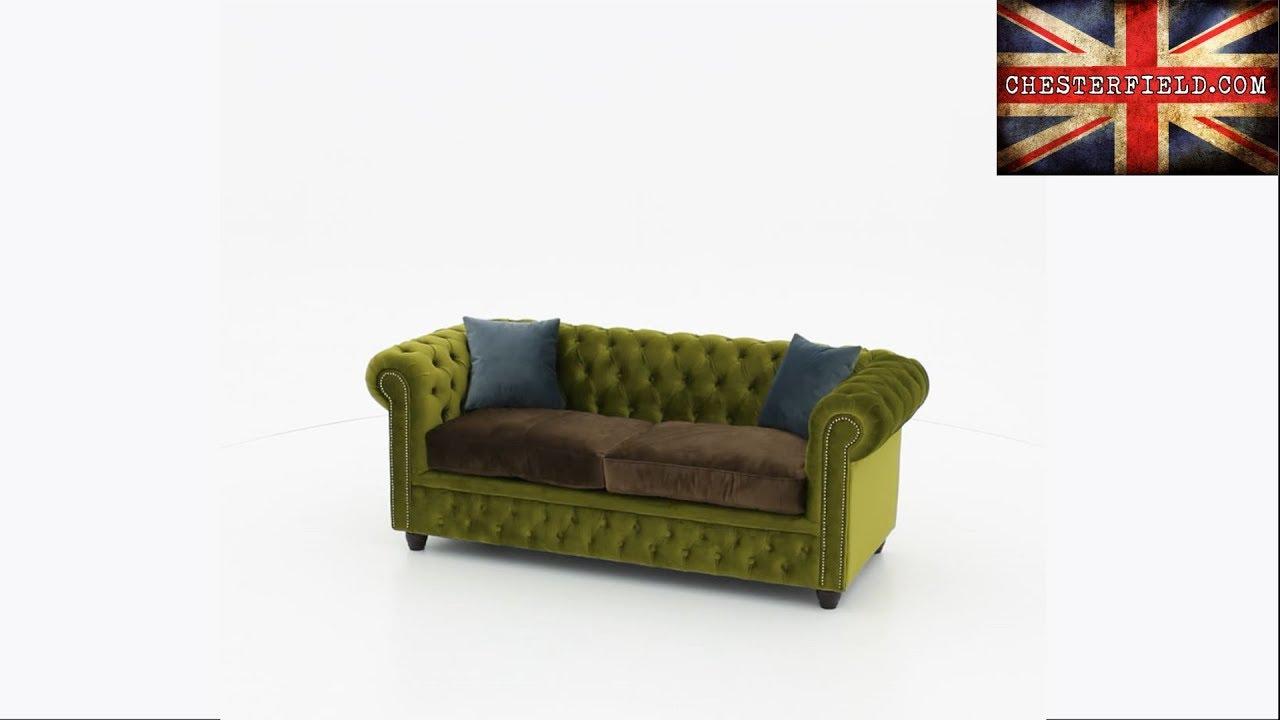 chesterfield brighton 3 sitzer sofa samt gr n youtube. Black Bedroom Furniture Sets. Home Design Ideas