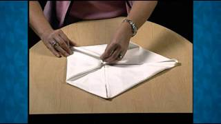 Napkin Folding Demo -- The Water Lily