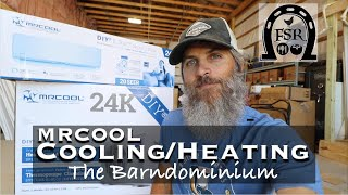 Mr Cool DIY 24K Mini Split Heat Pump and Air Conditioner Installation in the BARNDOMINIUM