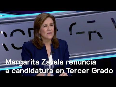 Margarita Zavala renuncia a candidatura en Tercer Grado