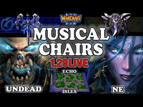 Grubby | Warcraft 3 TFT | 1.29 LIVE | UD v NE on Echo Isles - Musical Chairs