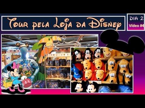 VLOG VIAGEM DISNEY 2015 #4 Tour Loja Disney Calypso Trading Post no Hotel Disney´s Caribbean Beach
