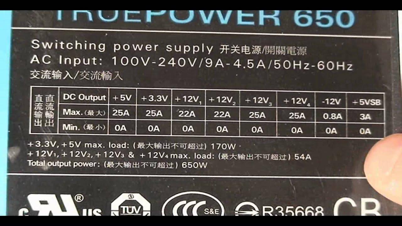Antec TruePower 650W Power Supply Video Review