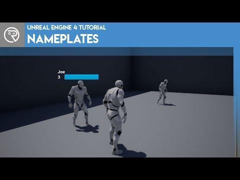 Unreal Engine 4 Tutorial - Nameplates