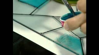 pintura de un vitral con vitraseta