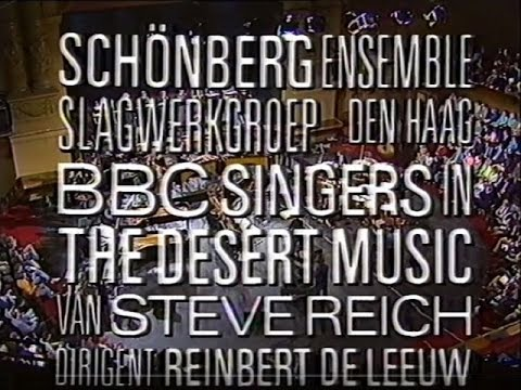Steve Reich Desert Music live @ Holland Festival Carré Amsterdam 1987