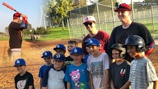 SURPRISING A BASEBALL TEAM AND PLAYING A GAME WITH THEM!