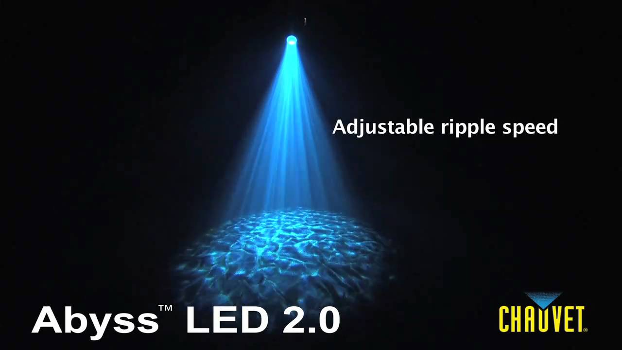 Chauvet Abyss Led 2 0 Water Effect Light Youtube