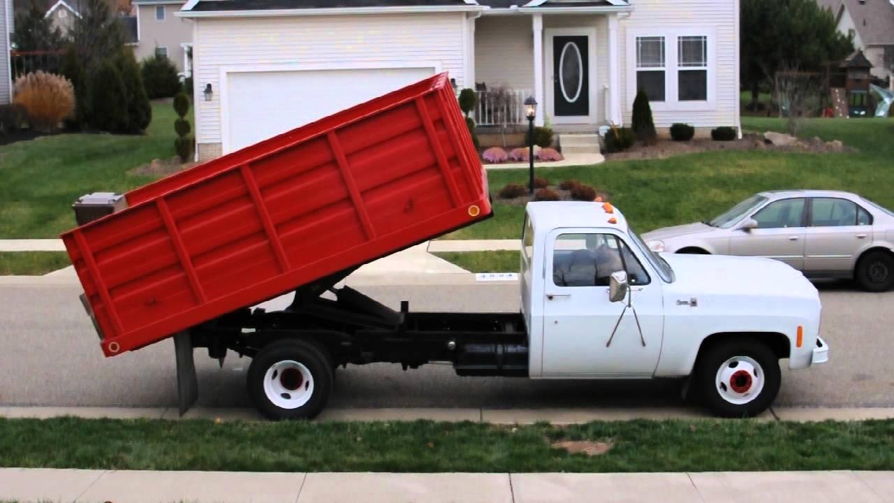 1977 GMC Sierra 35 Dump Truck for sale on ebay - YouTube
