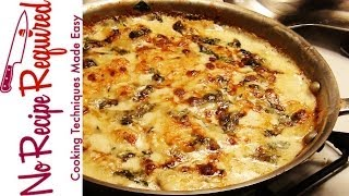 Potato Gratin With Spinach & Blue Cheese - Noreciperequired,com