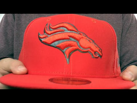 231c8b676a5d57 Broncos 'NFL TEAM-BASIC' Fire Red-Charcoal Fitted Hat by New Era ...