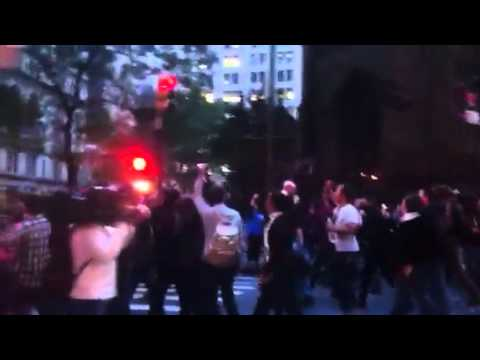 New York Observer: Occupy Wall Street marching