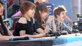110911 f(x) Victoria, Amber and Miss A