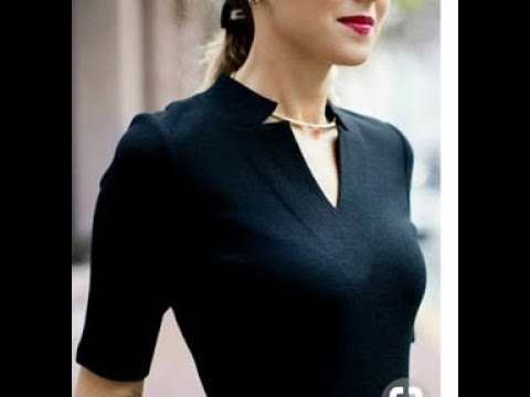 DIY Half collar V neck Pleated Kurti Dress half collar neck cutting stitching | DIY v neck sewing